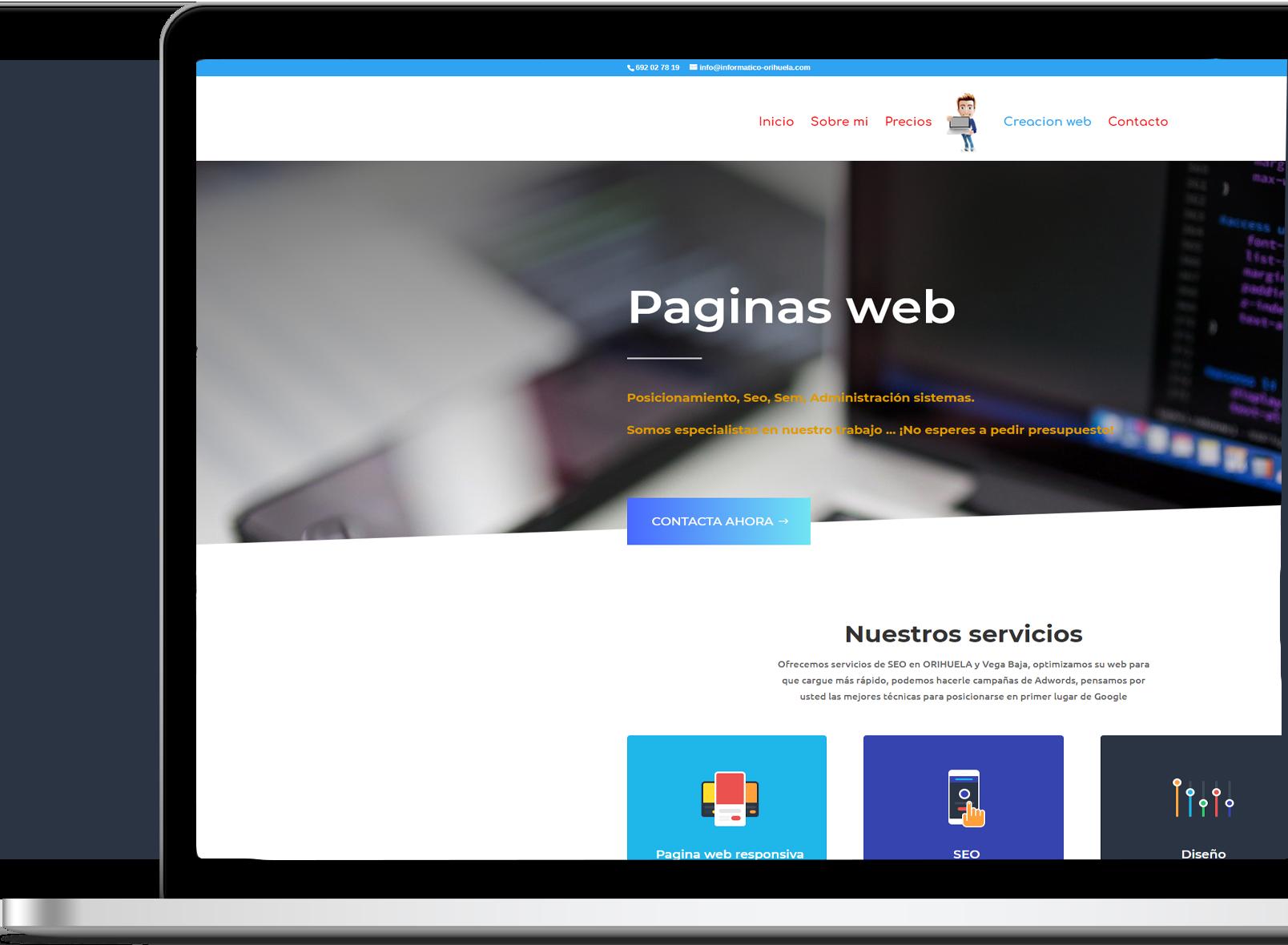 Creacion web informatico orihuela